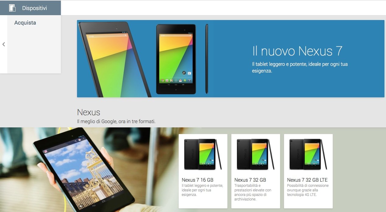 Google Play Device arriva in Italia con il nuovo Nexus 7!!!