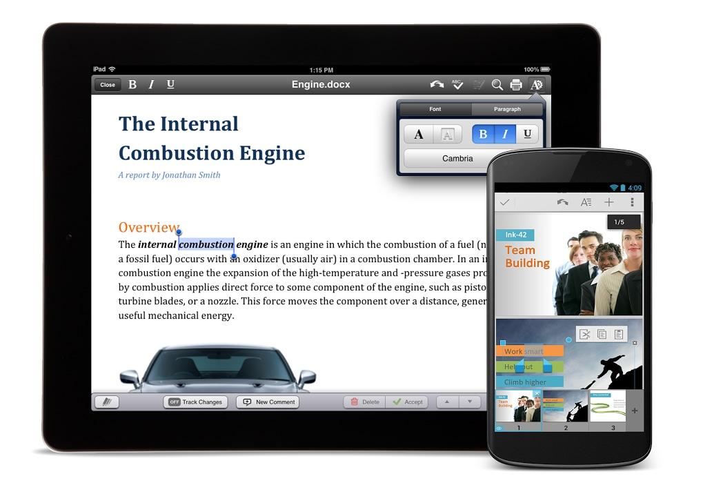 QuickOffice disponibile gratuitamente per Android (e anche per iOS) con 10 GB gratuiti entro il 26 settembre