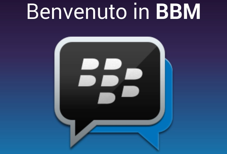 BlackBerry Messenger Android - benvenuto