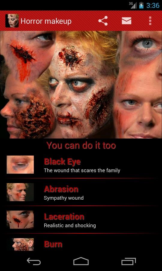 Horror makeup 1