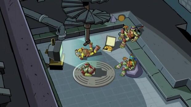 Pizza e videogiochi: tipica vita da tartaruga.