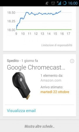 card amazon google now
