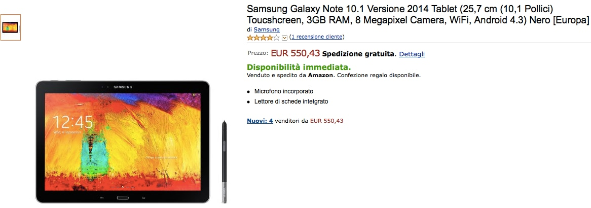 galaxy note 10.1 2014 amazon