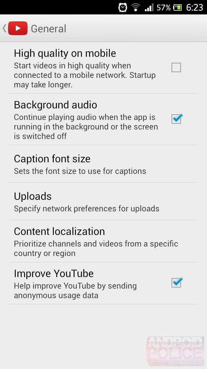 youtube background audio