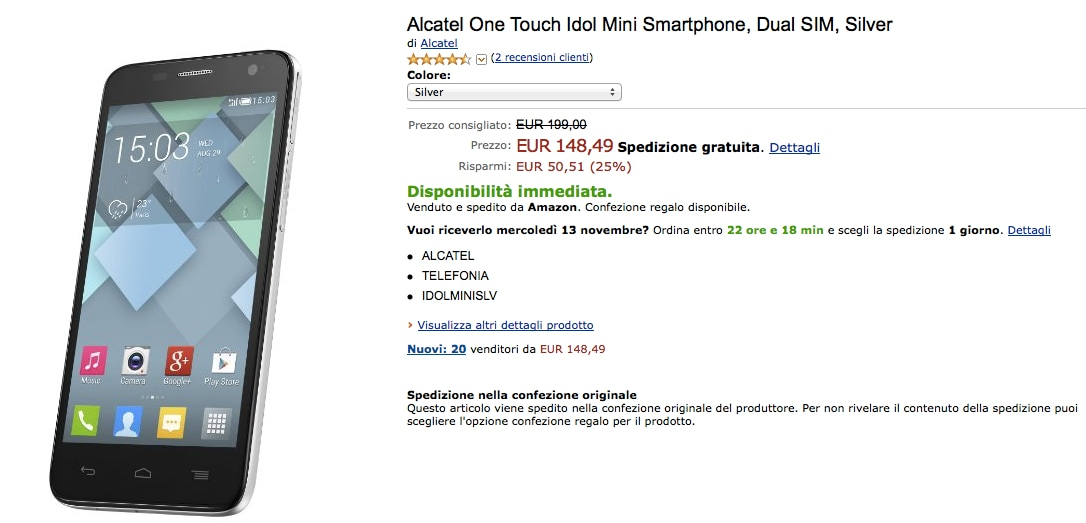 Alcatel One Touch Idol Mini amazon