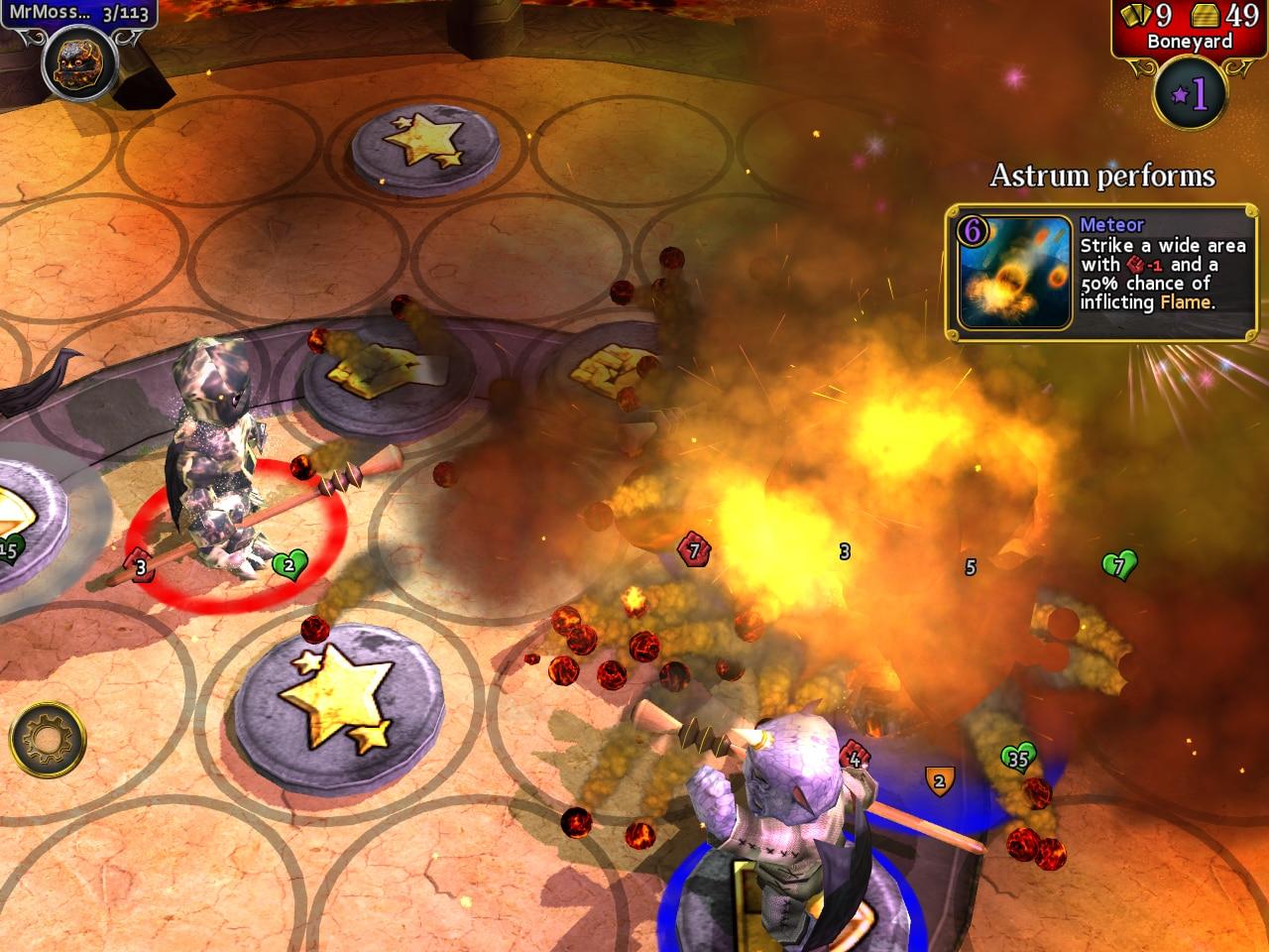 La magia meteora può rivelarsi devastante durante determinate situazioni.