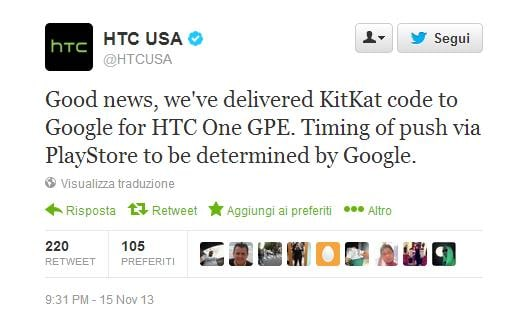 HTC One GPE - Android 4.4