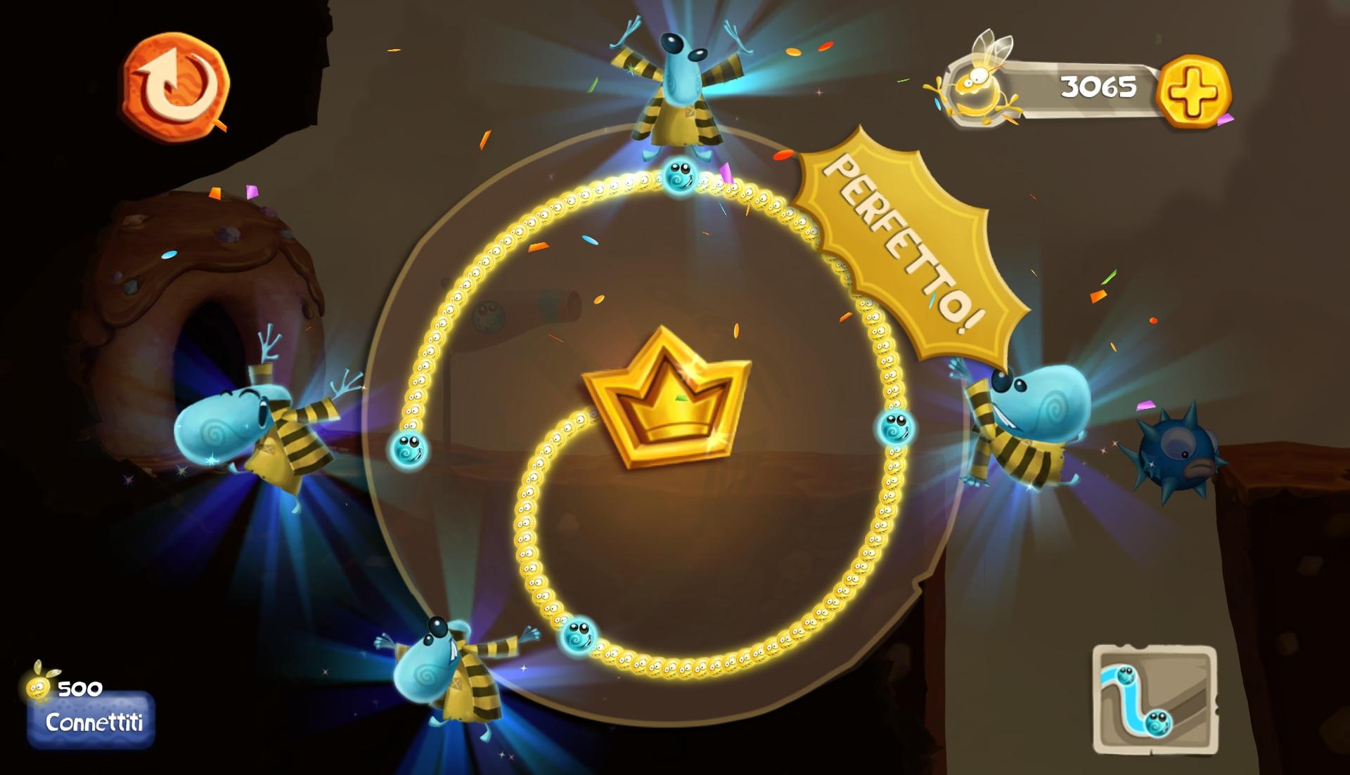 Il competamento al 100% di un livello vi donerà una corona e un livello extra supportato da un livello di sfida degno di tale nome.