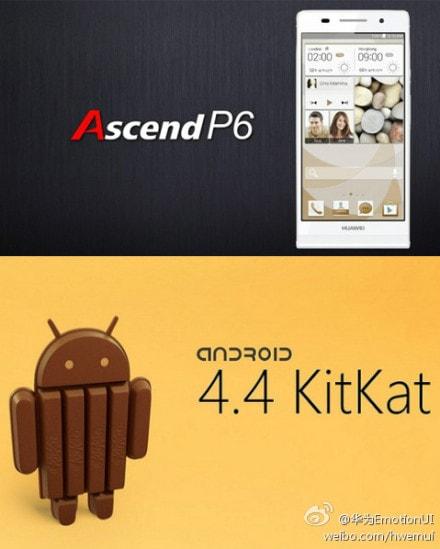 ascend p6 kitkat
