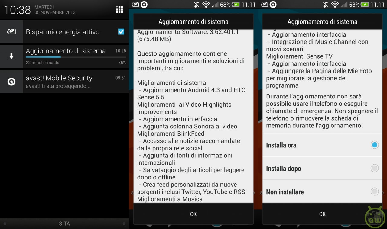 htc one android 4.3 sense 5.5