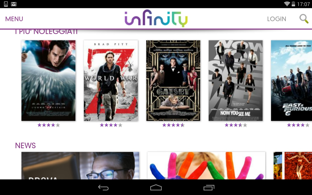 Infinit TV su Android
