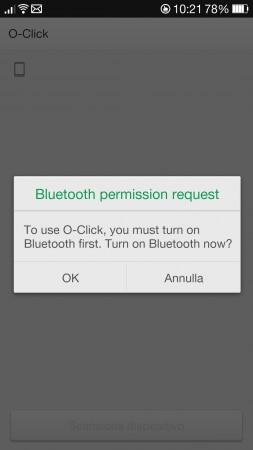 O Click accensione bluetooth