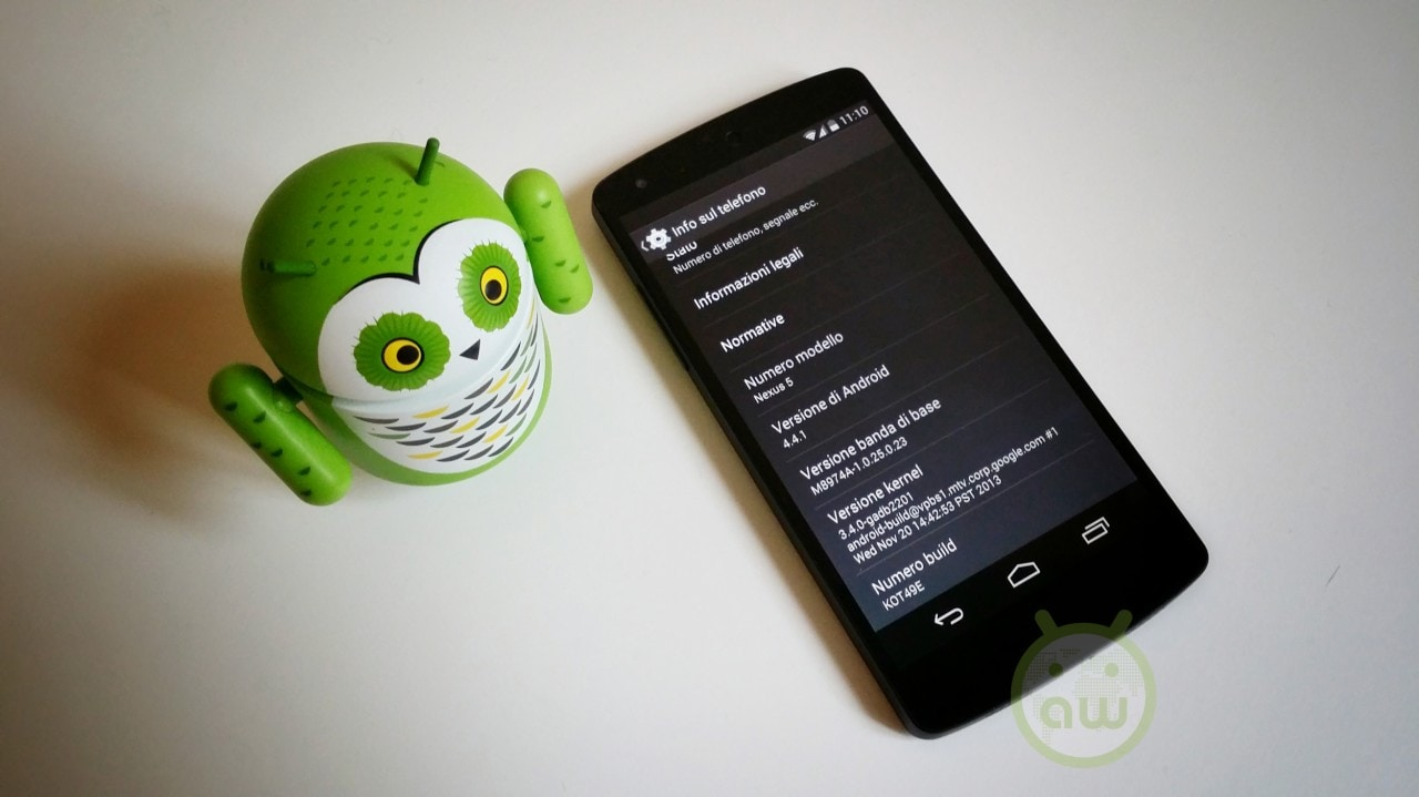 Android 4.4.1 su LG Nexus 5
