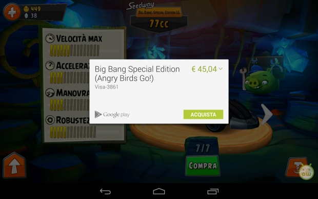 Angry Birds Go acquisti in-app (1)