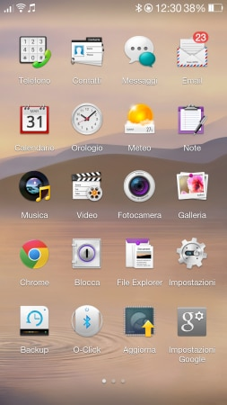 Color OS Oppo N1 Drawer