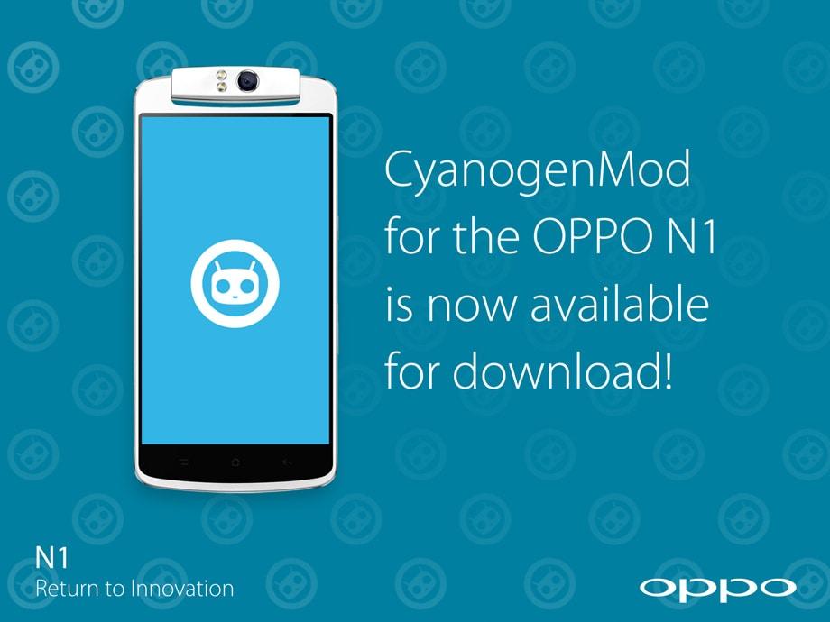 CyanogenMod firmware Oppo N1