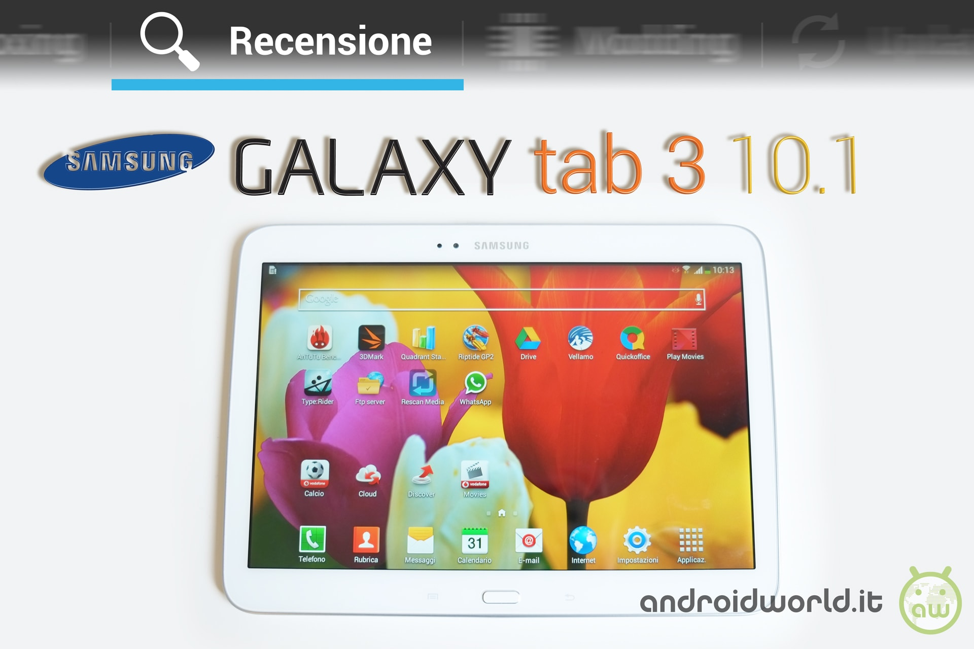 recensione samsung galaxy tab 3 10 1 androidworld. Black Bedroom Furniture Sets. Home Design Ideas