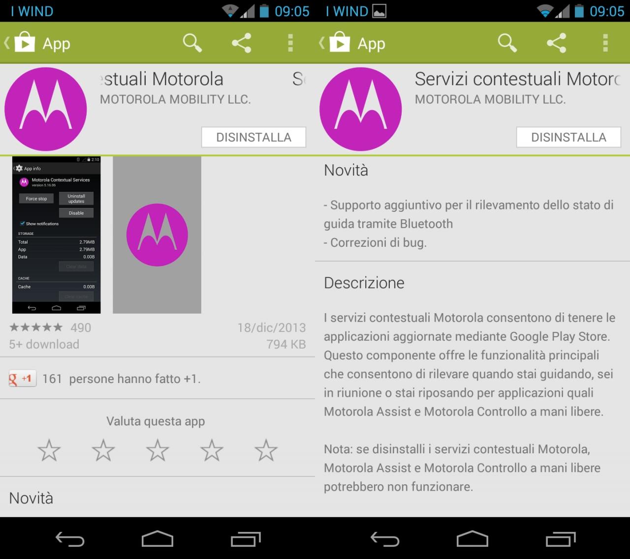 Servizi contestuali Motorola