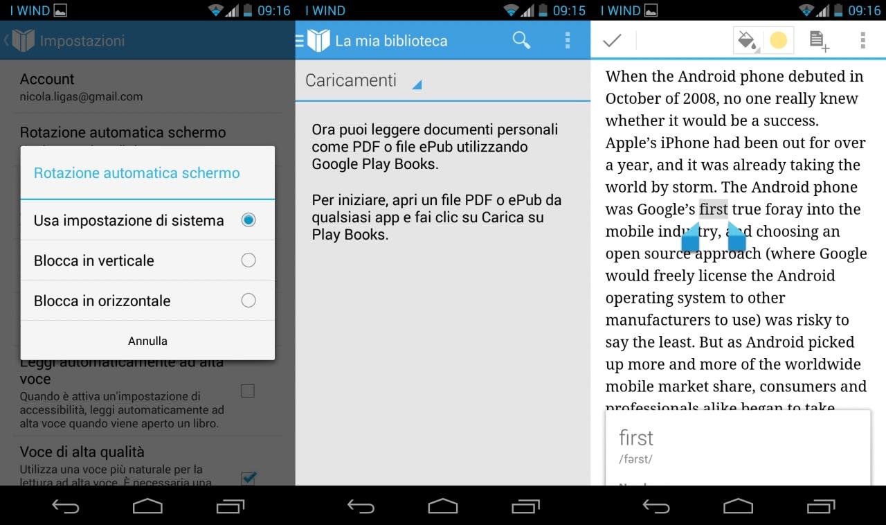 Google Play Libri reintroduce il caricamento di PDF e ePub (download)