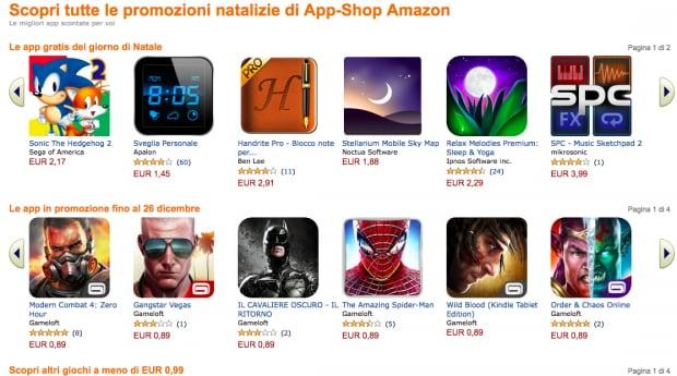 Amazon app shop ecco tutti gli sconti di natale per android for Promozioni amazon