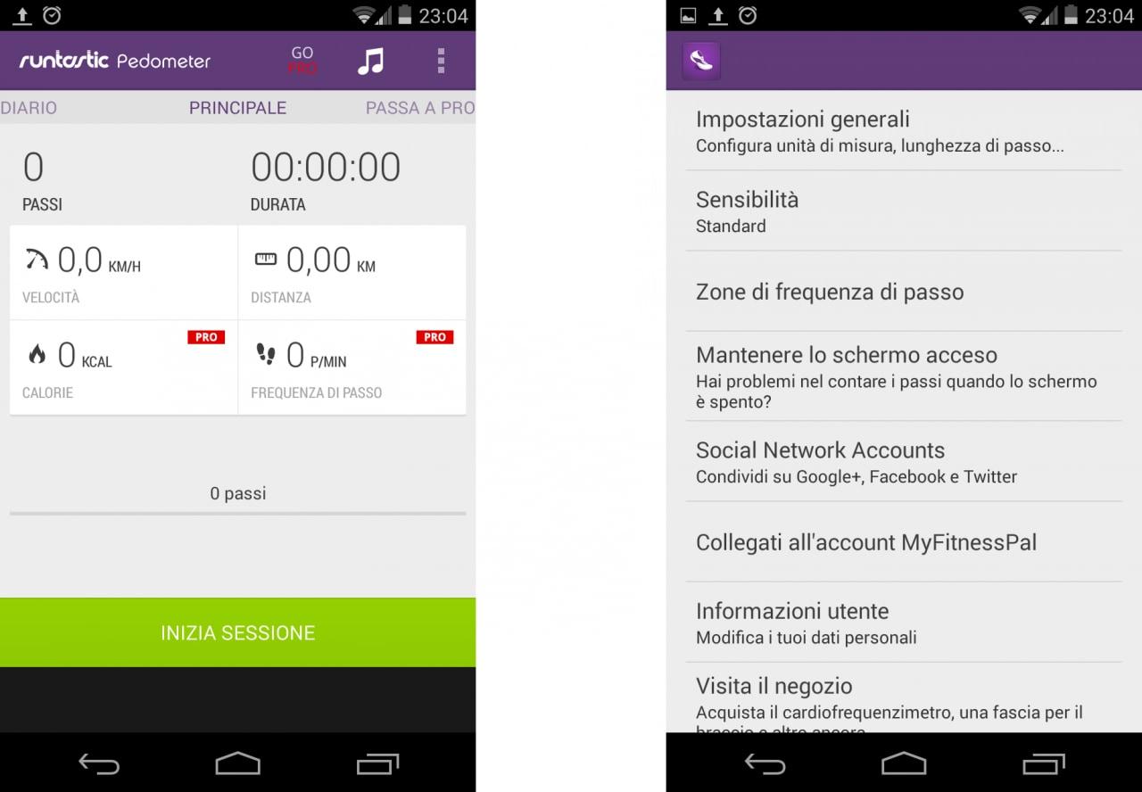 Runtastic Pedometer Pro gratis per oggi con App del Giorno
