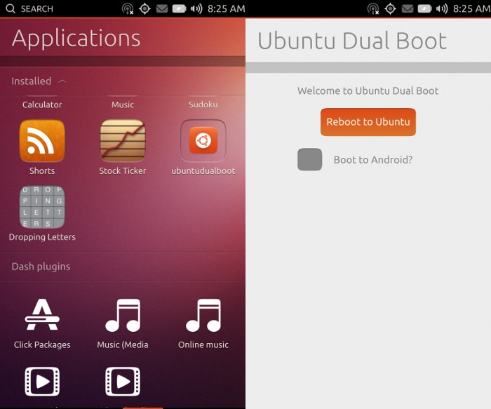 Ubuntu Touch dual boot