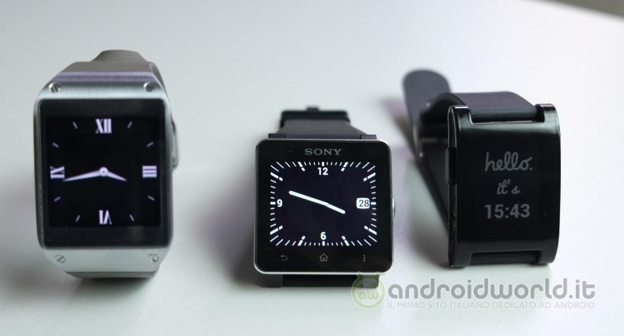 Smartwatch a confronto: Samsung Galaxy Gear vs Pebble vs Sony Smart Watch 2 (foto)
