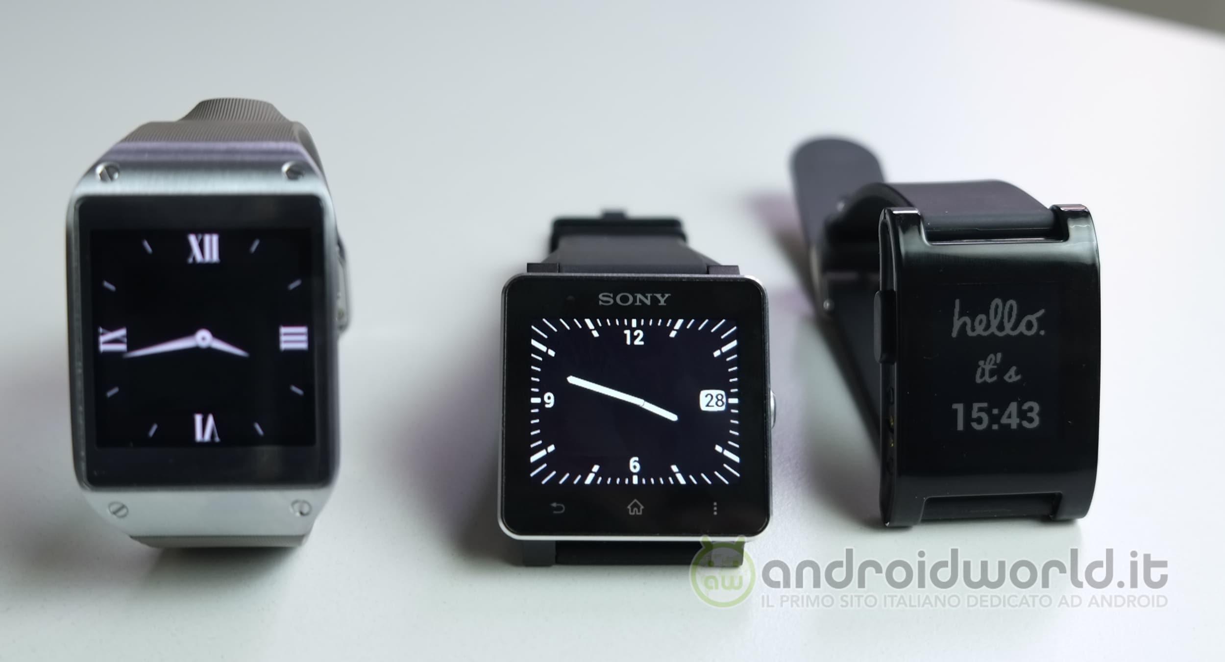 Smartwatch A Confronto Samsung Galaxy Gear Vs Pebble Vs