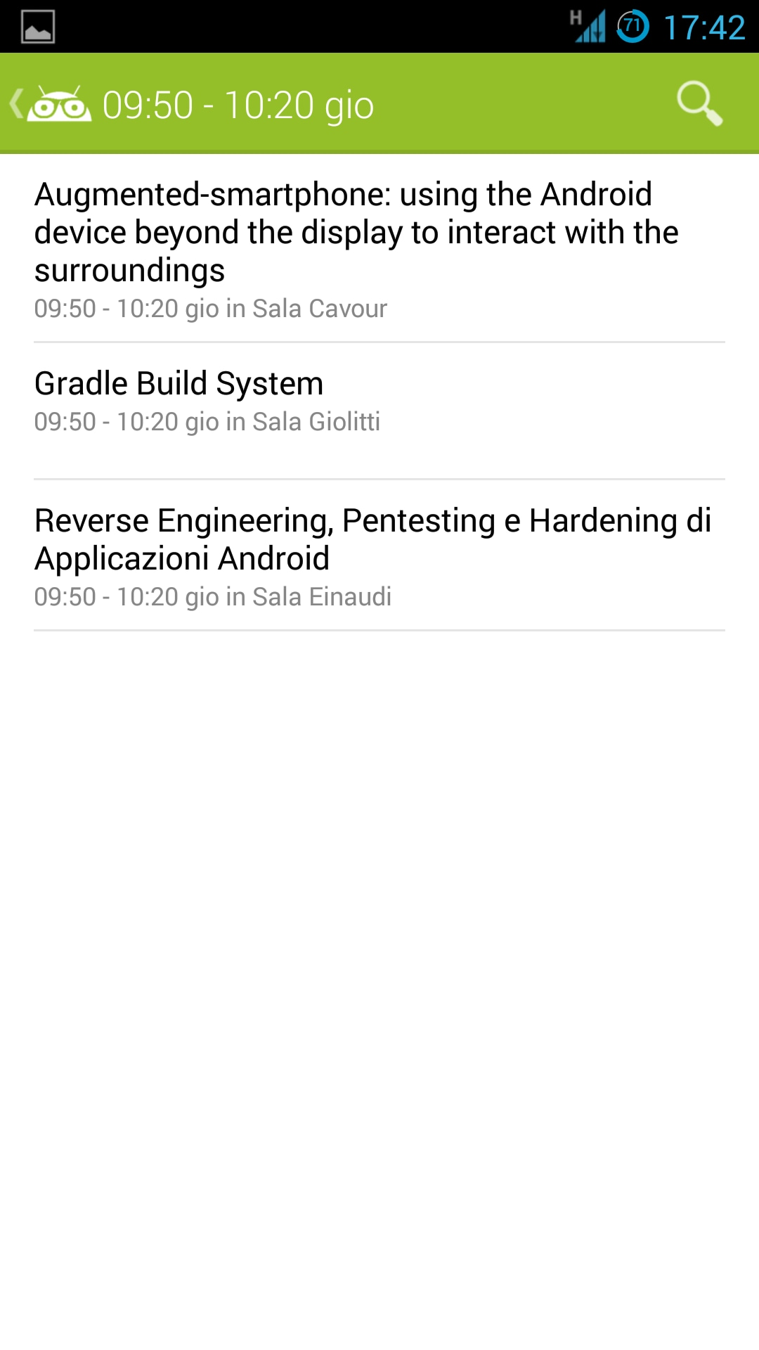 DroidCon app 5