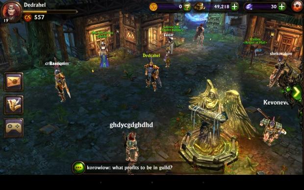 Il villaggio è forse l'elemento più contraddittorio di Eternity Warriors 3: da subito l'impressione di un titolo improntato sul multigiocatore, ma in verità non c'è ne traccia nel gioco.