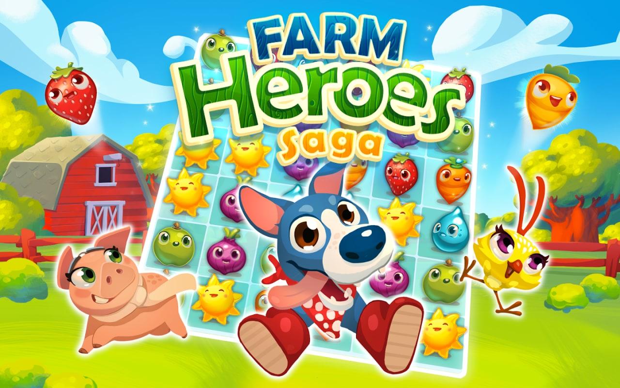 Dagli autori di Candy Crush Saga arriva sul Play Store anche Farm Heroes Saga