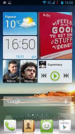 Huawei Ascend G700 Screen Home