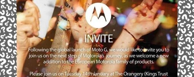 Motorola prepara un evento europeo per il 14 gennaio: sarà il Moto X o un nuovo smartphone?
