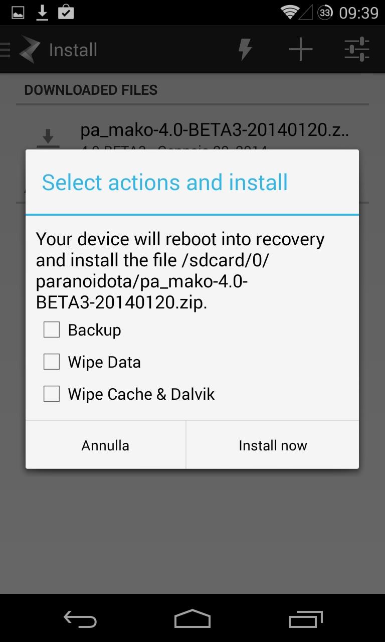 Paranoid Android beta3 5