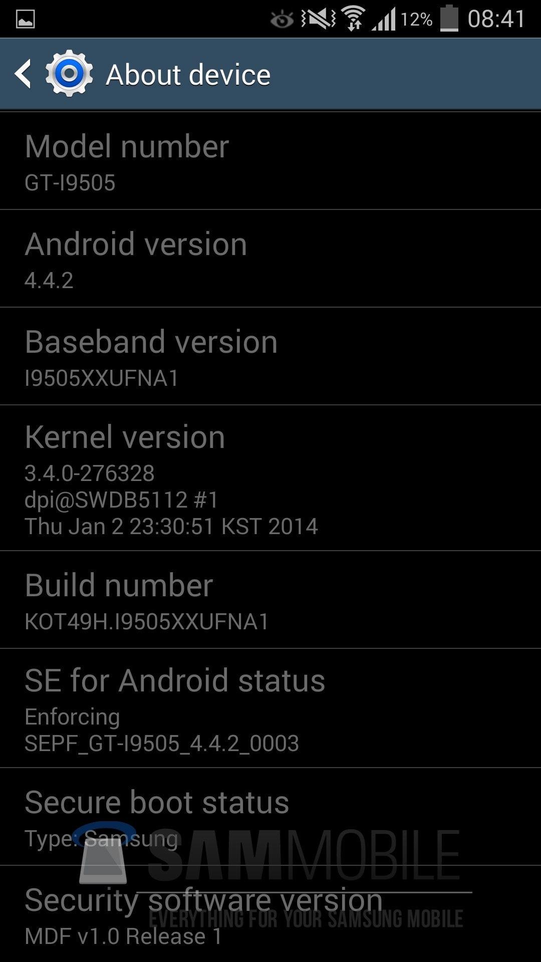 Samsung Galaxy S4 KitKat 1