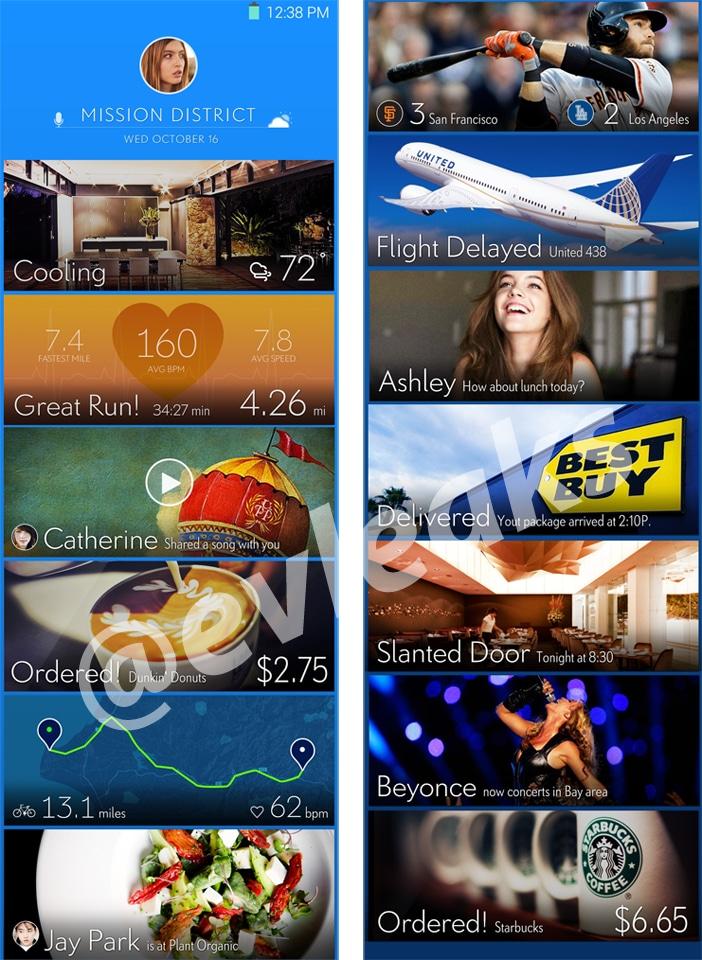 La nuova interfaccia di Samsung svelata con uno stile alla Google Now