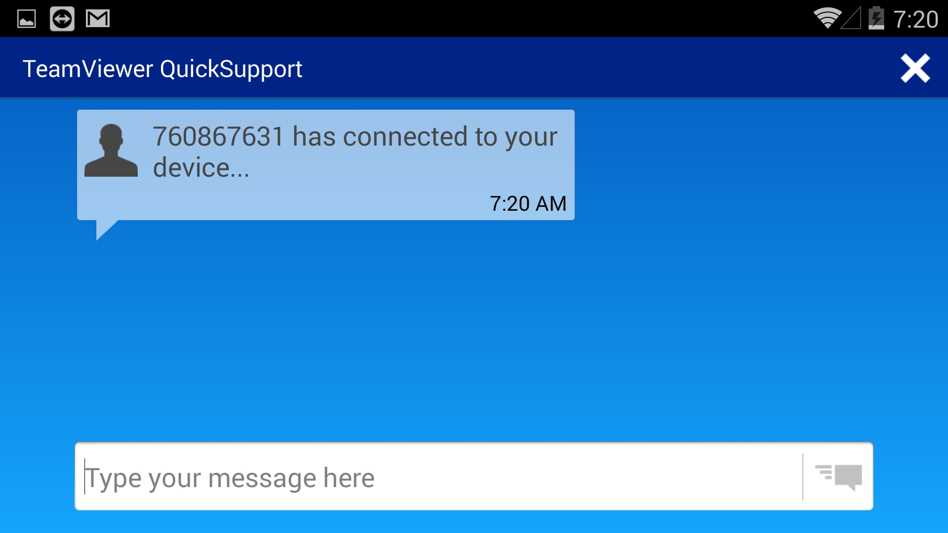 TeamViewer QuickSupport – Chat