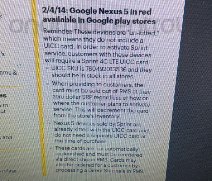 nexus 5 rosso data