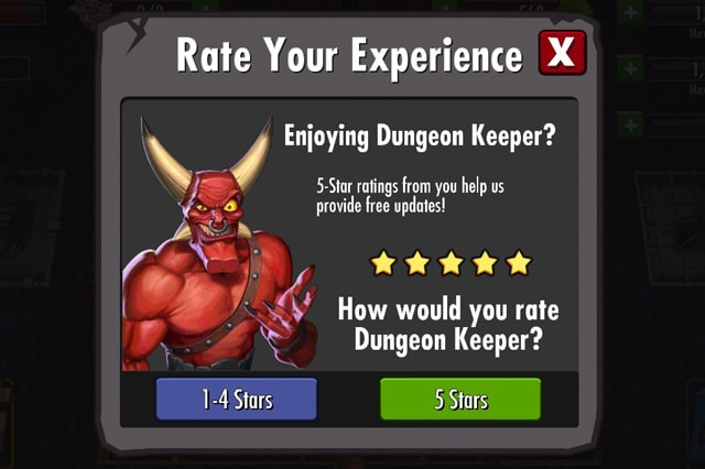 Dungeon Keeper vote system