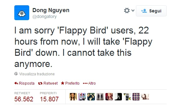 Flappy Bird removed