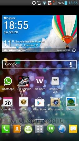 LG G Pad Lite Screenshot Home