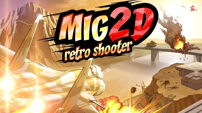 Mig 2D Retro Shooter Header