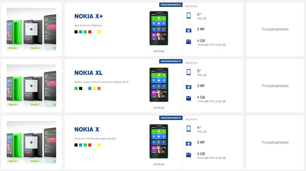 Nokia X, X+ e XL arriveranno in Italia prima del previsto?