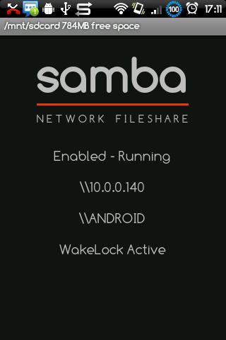 Samba Filesharing for Android 01