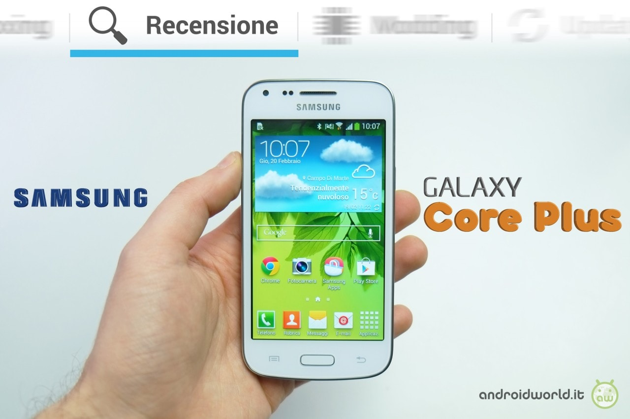 recensione samsung galaxy core plus dalla prova alle foto all 39 autonomia androidworld. Black Bedroom Furniture Sets. Home Design Ideas