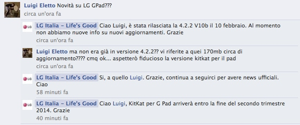 g pad update facebook