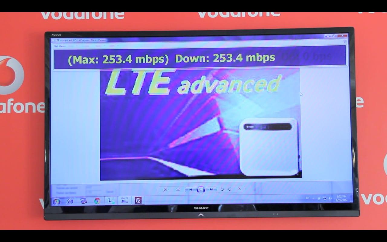 Vodafone testa la LTE-Advanced a Napoli con velocità fino a 250 mbps