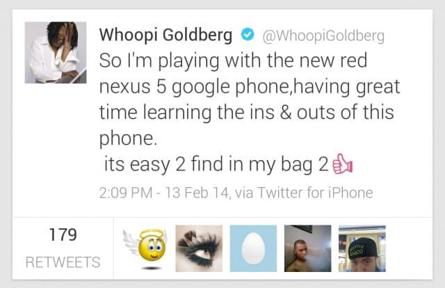Whoopie-Nexus-5-tweet-640x414
