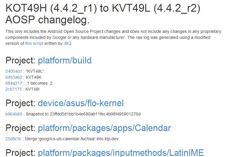I Nexus 7 (2013) con LTE ricevono l'aggiornamento ad Android 4.4.2_r2