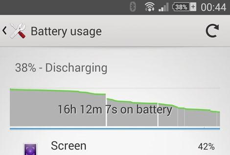Sony Xperia Z2: alcuni screenshot danno indicazioni sulla batteria